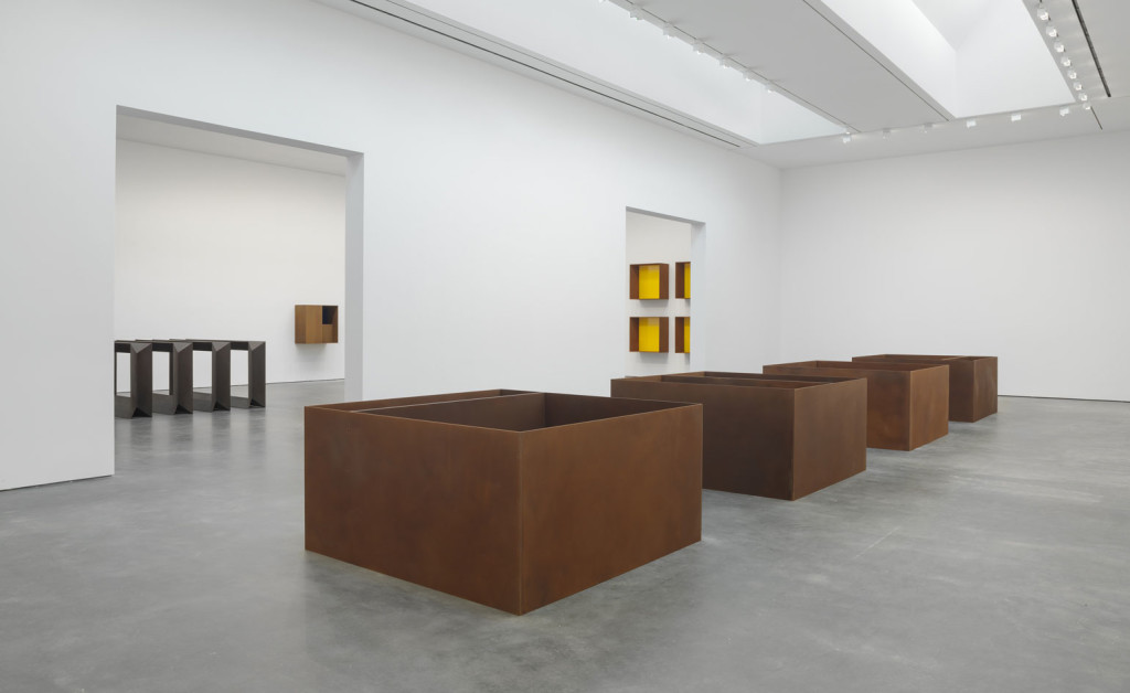 Donald Judd at David Zwirmer gallery, installation view, photos courtesy of David Zwirmer gallery and the Judd Foundation