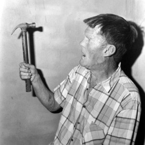 Herman with a Hammer, 1997, Roger Ballen